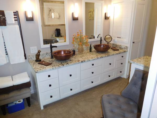 Asheville Bathroom New vanity with vessel sinks