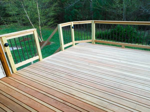 Black Locust Covered Deck