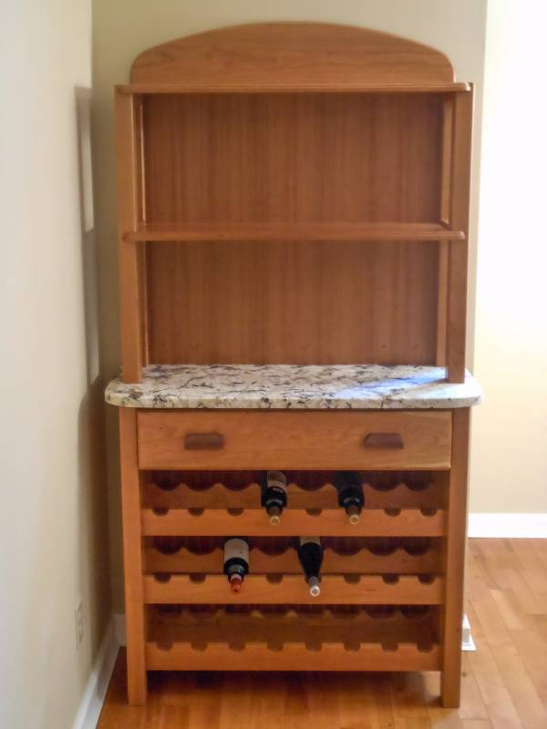 Cherry / Marble Wine Rack