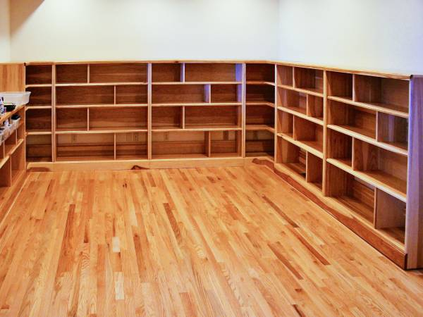 Hickory Studio Shelving