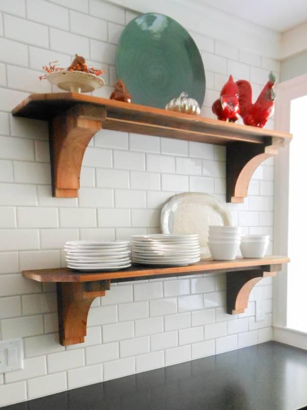 Reclaimed Pine Flooring and Shelves